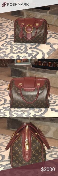 """Louis Vuitton Bordeaux Golden Arrow Speedy Limited Edition. 2012-2013 Fall-Winter runway collection. Key and pad lock included. Dust bag included. Measurements 12.5"""" L x 7.75 """"W  x 9"""" H  Date code:AR4122 Louis Vuitton Bags Totes"""
