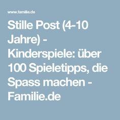 Stille Post (4-10 Jahre) - Kinderspiele: über 100 Spieletipps, die Spass machen - Familie.de