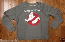 New Authentic Ghostbusters Womens French Terry Crew Neck Pullover.  Who ya gonna call?
