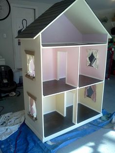 The Alyssa  Handmade Dollhouse for 18 Dolls by NaptimeWoodworks, $650.00