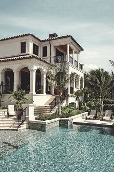 Haus pläne Design A House For Shelter As Well Villa For Family Water Fountains as a gatew Dream Home Design, My Dream Home, House Design, Mansion Homes, Mansion Interior, House Ideas, Storey Homes, Mediterranean Homes, Mediterranean Architecture