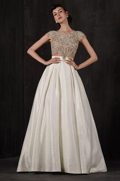 Wedding gown by Calla Blanche.