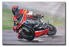Realist-Painting-font-b-Moto-b-font-Racer-Oil-Painting-on-Cotton-Canvas-Boy-Room-Decor.jpg (570×393)