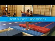 Front & Back Handspring Flips Gymnastics, Gymnastics At Home, Gymnastics Levels, Gymnastics Lessons, Gymnastics Floor, Gymnastics Tricks, Tumbling Gymnastics, Gymnastics Coaching, Gymnastics Workout