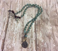 Pirate Booty, Pieces of Eight, Hand Knotted Necklace, Boho Chic on Etsy, $42.00