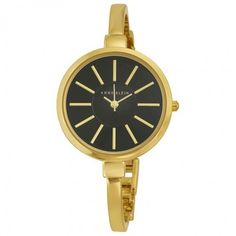 $99.99 (33% off) Anne Klein Gold and Black Ladies Watch and Bracelet Set Anne Klein - Watches - Jomashop - Bargain Bro