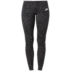 Nike Sportswear LEGASEE Leggings ($54) ❤ liked on Polyvore featuring pants, bottoms, leggings, sport, jeans, grey and nike