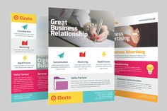 Colourful Business Flyer by graphicstall on Creative Market