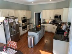 spray Kitchen cabinet painters & refinishing services can give your old cabinets a like-new finish. Call for a FREE cabinet painting ga Kitchen Cabinets On A Budget, Kitchen Cupboard Doors, Old Cabinets, Kitchen Cabinet Colors, Painting Kitchen Cabinets, Kitchen Paint, Cabinet Doors, Kitchen Storage, Kitchen Installation