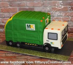 Awesome is when @wastemanagement likes your garbage truck cake inspired by them!!!! 3D Elevated Garbage Truck Cake for a little boys 5th #birthday - Springboro, Ohio - Tiffany's Creative Cakes