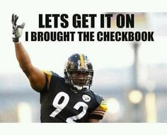 James Harrison-- You'll be missed every single Sunday.