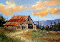 Old Barn Painting Landscape   Back to Deb Owens-Lowe   Art > Paintings > Landscape Paintings