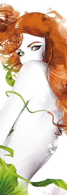 """¡Solo para pelirrojas! «ilustración """"Poison Ivy"""" por Louly Pop'Art»."""