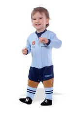 Babies Toddlers Size NRL Footy Fan Rugby League Personalised Onesies