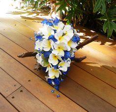 Frangipani Plumeria Blue Orchid Tear Drop Cascade by Abloomortwo