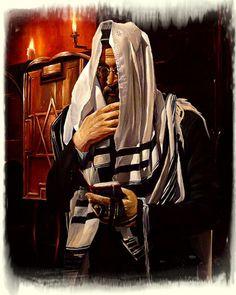 Alex Levin (Russian/Israeli, born 1975) 'Praying at the Synagogue'