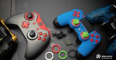 SCUF Infinity Spectrum Series professional controllers, for Playstation 4 and Xbox One, are fully-loaded with innovations and patented technology that makes SCUF the choice for over for all Pro Gamers. Ps4, Playstation, Xbox Controller, Comic Games, Gurren Lagann, Tecno, Gaming Memes, Xbox One, Console