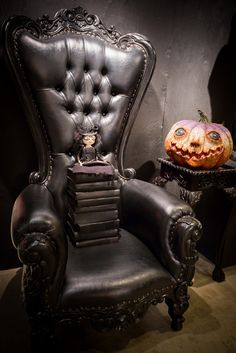 Halloween setting by roger's garden (I just want this crazy chair!!!)