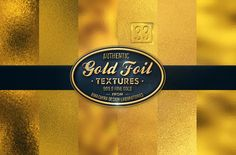 33 Authentic Gold Textures by BMachina on Creative Market