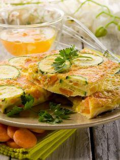 Frittata di zucchine al microonde Microwave Recipes, Fresh Rolls, Love Food, Hamburger, Buffet, Brunch, Food And Drink, Favorite Recipes, Meat