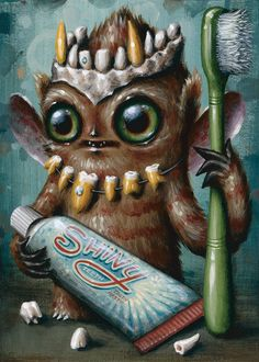Cryptidbit no. 44 (september) Acrylic by Jason Limon | Trampt Library