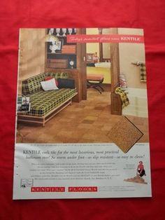 Vintage Original 1957 Kentile Cork Tile Floors Smartest Floors Ad | eBay