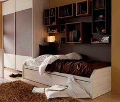 Dormitorios Juveniles con muebles en blanco y marrón - Zb muebles Zaragoza