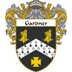 Gardner Coat of Arms namegameshop.com has a wide variety of products with your surname with your coat of arms/family crest, flags and national symbols from England, Ireland, Scotland and Wale