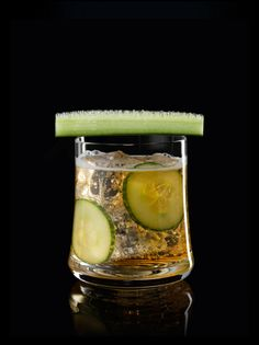 How to make a cognac cocktail? Hennessy cognac, lemonade, lime juice, and cucumber are the ingredients you need to make a Hennessy Soda cocktail.