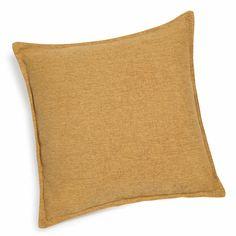 Coussin en tissu ocre jaune 45 x 45 cm CHENILLE