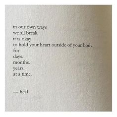 We heal together. ❤️➡️ from poet @nayyirah.waheed