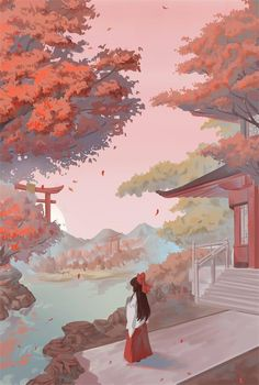 Fantasy Landscape, Landscape Art, Fantasy Art, Pretty Art, Cute Art, Aesthetic Art, Aesthetic Anime, Illustration Pop Art, Arte Do Kawaii