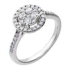 Halo style gorgeous engagement ring - http://www.mybridalring.com/halo-style-diamond-engagement-rings/