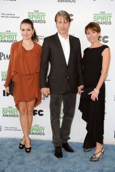mads mikkelsen with wife and daughter at Film Independent Spirit Awards 3.1.14