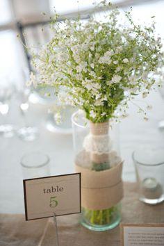 style me pretty - real wedding - mexico - puerto morelos wedding - now jade riviera cancun - reception decor - table decor - centerpiece - baby's breath