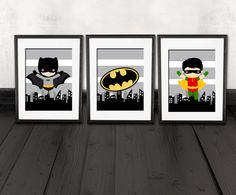 Sticker de Batman set de 3 tirages citation par AmysSimpleDesigns