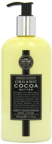 Greenscape Organic Cocoa Butter Deeply Moisturising Hand and Body Lotion 500ml - http://best-anti-aging-products.co.uk/product/greenscape-organic-cocoa-butter-deeply-moisturising-hand-and-body-lotion-500ml/