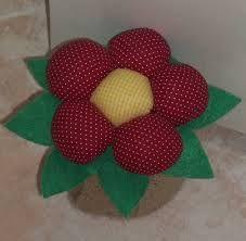 lembrancinha vaso de flor de tecido - Pesquisa Google