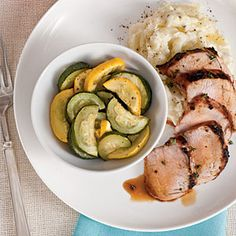 Grilled Pork Tenderloin with Squash Medley *made this tonight...YUM!*