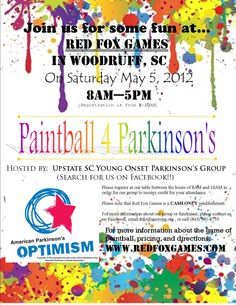 Paintball 4 Parkinson's |  Fundraise for the Causes you care about at http://www.givengain.com/learn/activists/
