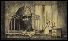 The Unspeakable Horrors of HP Lovecraft as envisioned by Edward Gorey (artist John Kenn Mortensen) Edward Gorey, Arte Horror, Horror Art, Tim Burton, Creepy Art, Scary, Bizarre Art, Art Post-it, Don Kenn