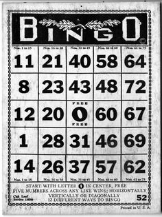 old bingo card images Free Printable Bingo Cards, Printables, Journal Cards, Junk Journal, Bingo Patterns, Bingo Party, Quote Collage, Vintage Cards, Vintage Images
