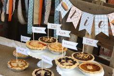 Mini Pies at a Pie themed first birthday party