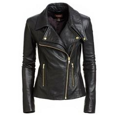 New Women's Leather Motorcycle Biker Jacket 100% Genuine Soft Lambskin #N115 #NationalLeather #MotorcycleBomber