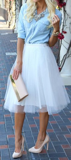 Chambray & tulle