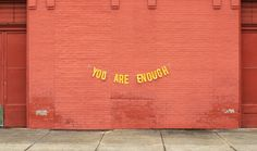 you are enoughquote by milly cope // banner & photography by peytonfulford