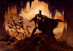 "In ""Domain of The Bat,"" Suydam depicts the intimidation and darkness Batman instills as he walks into the shadowy Batcave. Suydam's imagery suggests a gothic stylization along with the surreal, bringing an almost haunted allure to his superhero subjects. An honored recipient of the Spectrum 2005 Gold Medal for artistic excellence, Arthur Suydam has contributed multitudes of images to DC Comics and Marvel Comics. The print is hand-signed by the artist and numbered."