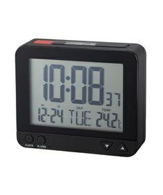 IDEA LABEL 電波LCDアラームクロックM (Black) ¥3,000(税抜)