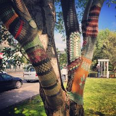 so apparently this is called yarn bombing? saw this in reykjavik. when I learn how to crochet, imma do this to everything