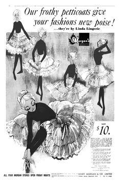 Henry Morgan, Big Skirts, Petticoats, Lingerie, Fashion, Moda, Fashion Styles, Underwear, Fashion Illustrations